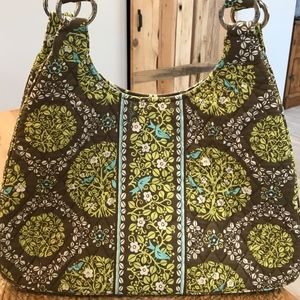 Vera Bradley Sittin in a Tree Large Hobo Bag-EUC